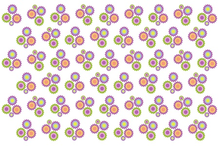 invent things: pattern of  flower on background