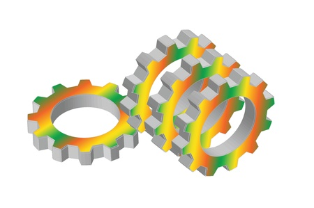meshing  gear on white background,industrial driving photo