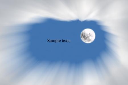 moon  on  sky background,idea box  Stock Photo - 15595365