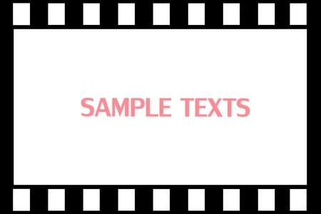 film strip on background photo