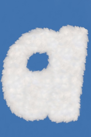 digits  made from cloud  on blue sky background photo