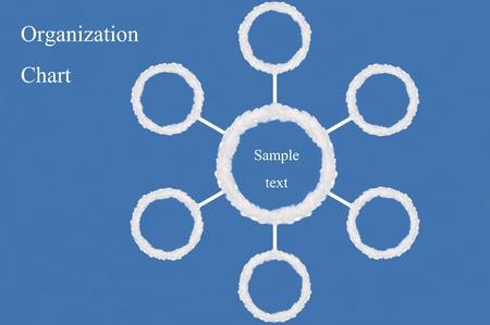 organization chart made from cloud,text box,idea box Stock Photo - 15830857