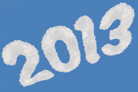 2 months: digits  made from cloud  on blue sky background Stock Photo