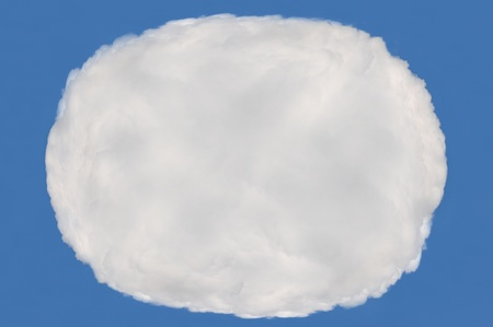cloud on blue background,idea box,cloud box  photo