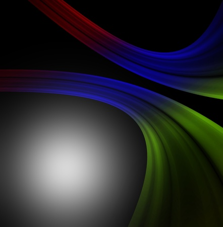 glowing line on black  space, abstract background Stock Photo - 15830796