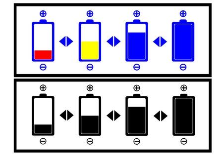 battery level ,battery sign,battery symbol,vector Stock Vector - 16060116