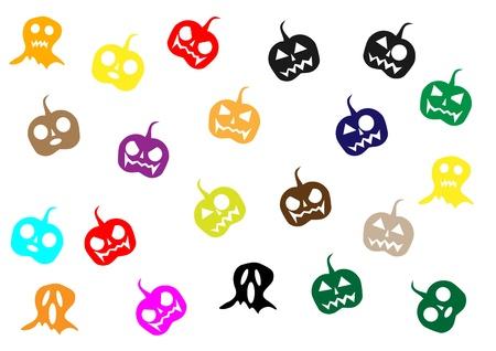 children s art: colorful halloween ,jack-o -lantern , cartoon,illustrator,graphic Illustration