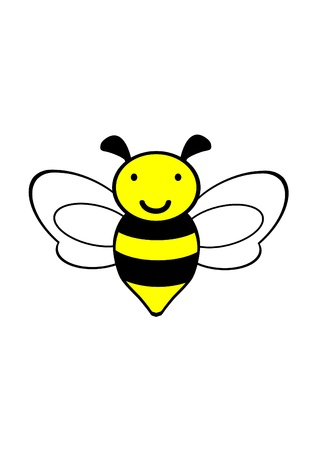 bee icon,vector,bee drawing Illustration