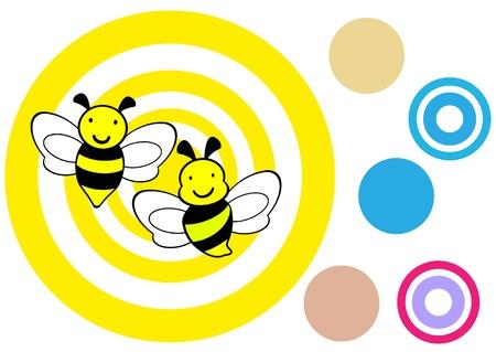 bee icon,vector,bee drawing Vector