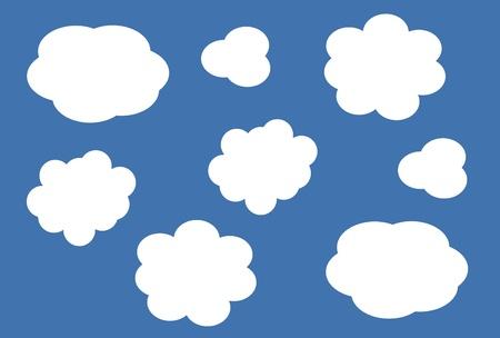 cloud icon, texts box, idea box,flow chart,vector Stock Vector - 16486356