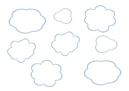 cloud icon, texts box, idea box,flow chart,vector Stock Vector - 16486355