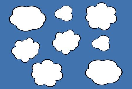 cloud icon, texts box, idea box,flow chart,vector Stock Vector - 16486359