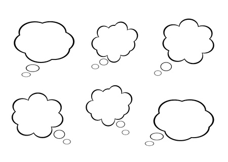 cloud icon, texts box, idea box,flow chart,vector