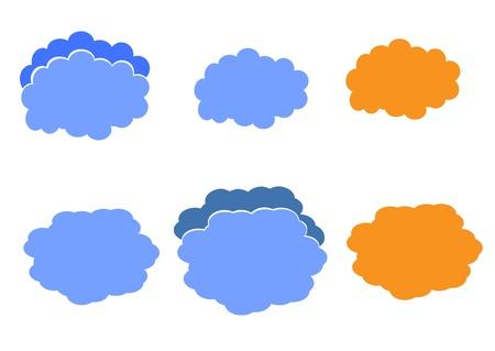 cloud icon, texts box, idea box,flow chart,vector  Stock Vector - 16486353