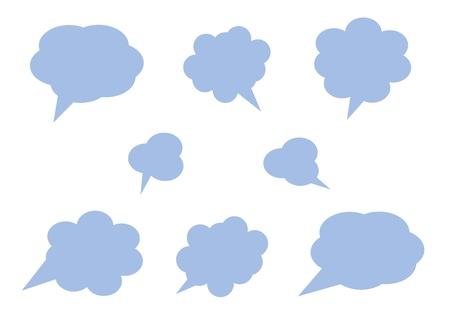 cloud icon, texts box, idea box,flow chart,vector  Stock Vector - 16486352