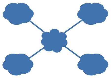 cloud icon, texts box, idea box,flow chart,vector  Stock Vector - 16486358