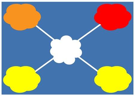 cloud icon, texts box, idea box,flow chart,vector  Stock Vector - 16486364