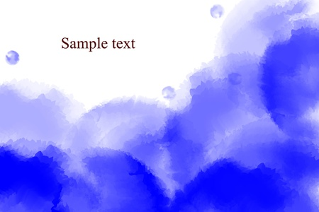 illustration of watercolor background,abstract background,text box,idea box Stock Illustration - 18096153