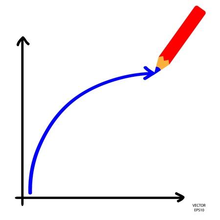 accrue: drawing by color pencil,sketching by pencil,vector