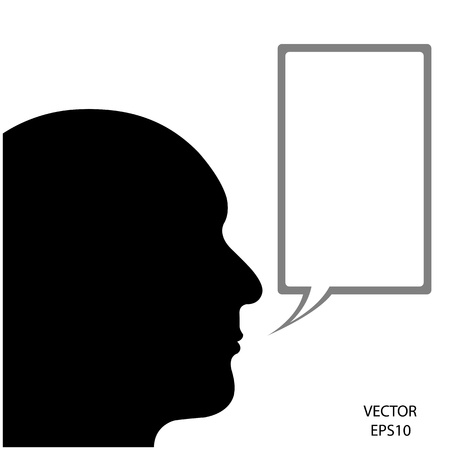 Silhouette of a head on white background Stock Vector - 18096242