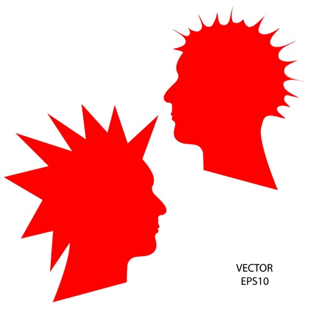 Silhouette of a head on white background,the concept of business icon,business symbol,vector Stock Vector - 18092553