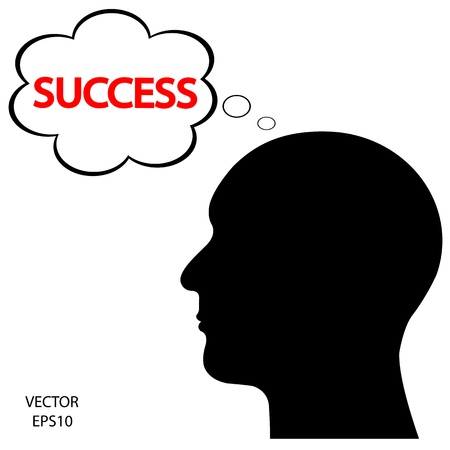 Silhouette of a head on white background,the concept of business icon,business symbol,vector Stock Vector - 18092549