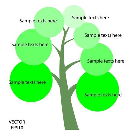 color tree symbol, tree icon,business icon,texts box,texts tree,vector  Vector