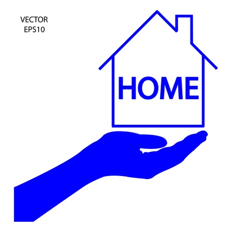 home icon,color pencil icon, business symbol,concept of creation,drawing by color pencil,vector Stock Vector - 18139021