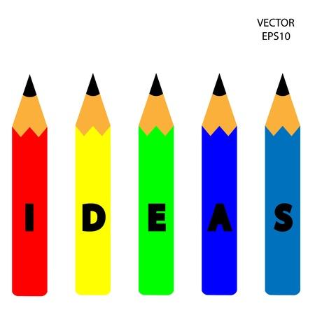 easy money: color pencil icon, business symbol,concept of creation,drawing by color pencil,vector