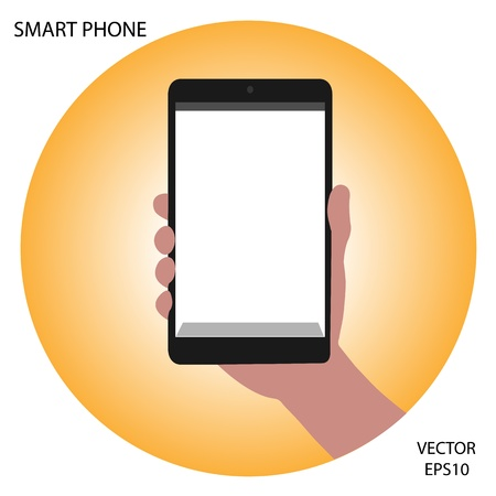 tablet on hand outline,smart phone on hand outline, tablet drawing,smart phone drawing,tablet symbol,smart phone symbol, vector Stock Vector - 18139049