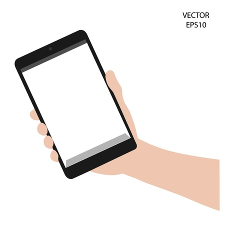 tablet on hand outline,smart phone on hand outline, tablet drawing,smart phone drawing,tablet symbol,smart phone symbol, vector Stock Vector - 18138991