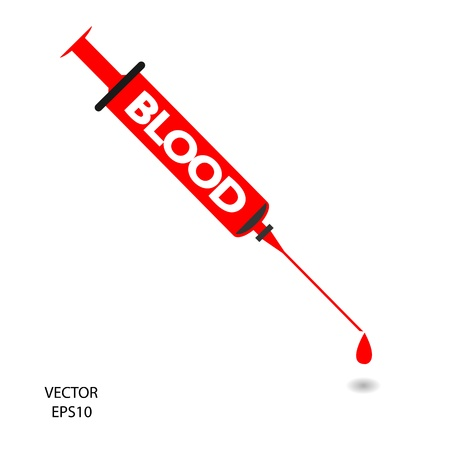 Medical syringe sign,hypodermic syringe symbol,needle ,vector Stock Vector - 18138932