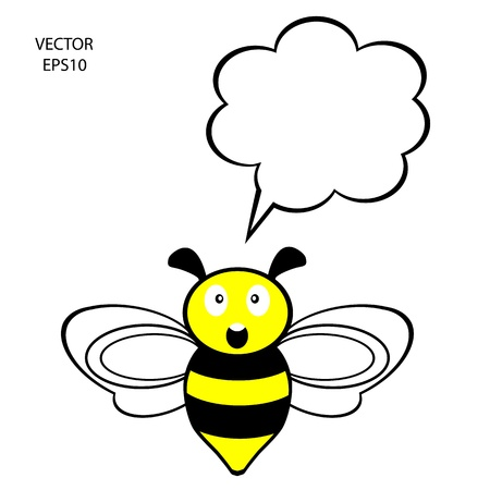 bee icon,bee drawing,bee outline,vector Stock Vector - 18153097