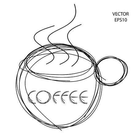 steaming coffee: coffee cup icon,coffee cup symbol, food drink symbol,vector