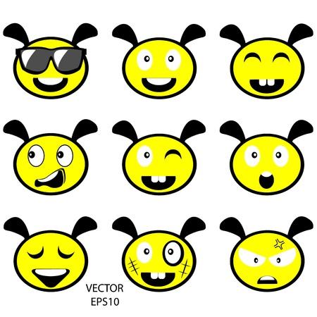 emotion on bee s face,cartoon