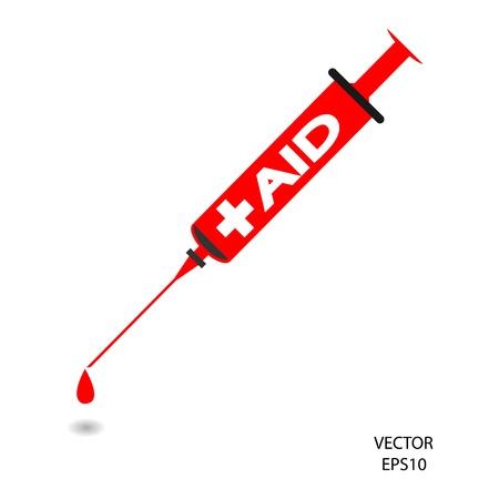 Medical syringe sign,hypodermic syringe symbol,needle ,vector Stock Vector - 18194691