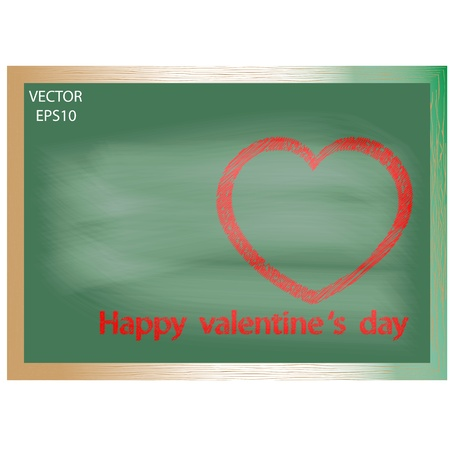 heart shape on board Vector