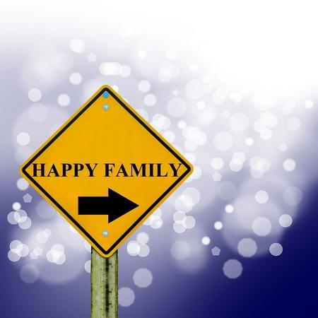 union familiar: negocios signo en placa con fondo bokeh, signo abstracto, s�mbolo comercial