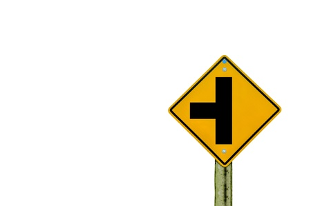 sign road on board with white background Stock Photo - 18293536