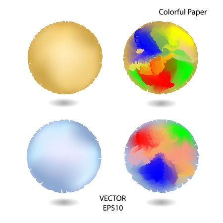 set of colorful paper texture,colorful paper background Stock Vector - 18334823