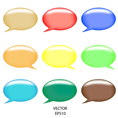 communication concept: illustration of colorful speech bubble on abstract background,abstract talking bubble,colorful text box