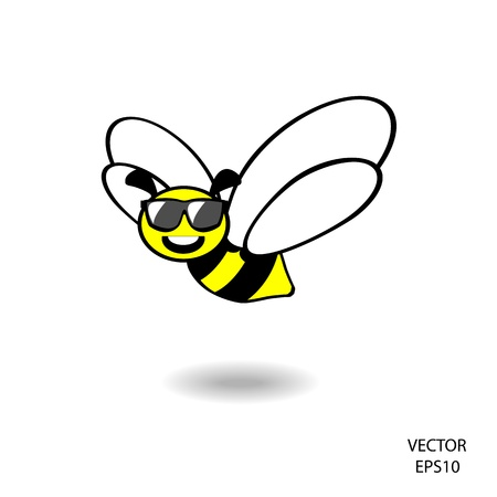 feeling on small face of baby bee , bee icon,bee drawing,bee outline  Vector