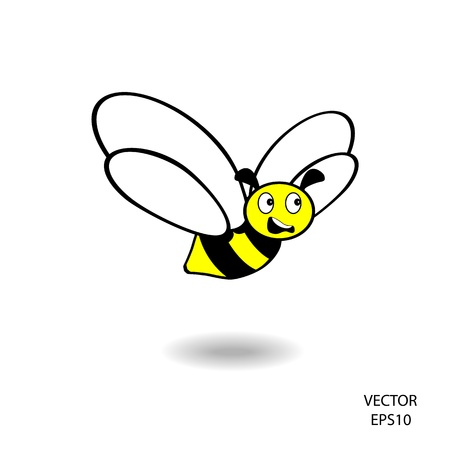 feeling on small face of baby bee , bee icon,bee drawing,bee outline Stock Vector - 18356303