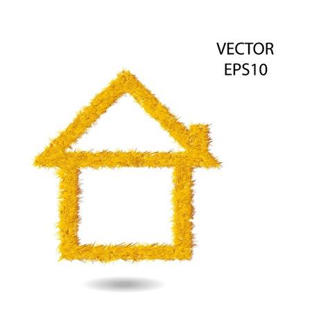 simple home ,think box,idea box,grass symbol,text box Stock Vector - 18356394