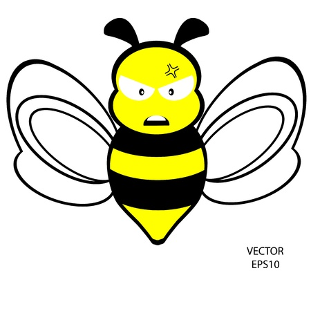 feeling on small face of baby bee , bee icon,bee drawing,bee outline,vector Vector
