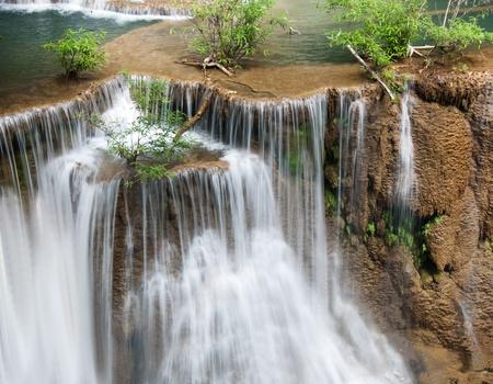 The Huai Mae Khamin Waterfall, Kanchanaburi, Thailand Stock Photo - 18403206