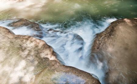 The Huai Mae Khamin Waterfall, Kanchanaburi, Thailand Stock Photo - 18403209