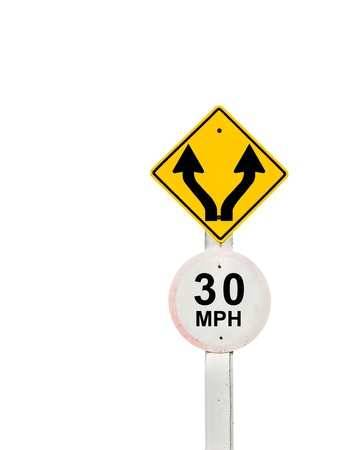 traffic sign on background, sign road board on background Stock Photo - 18428270