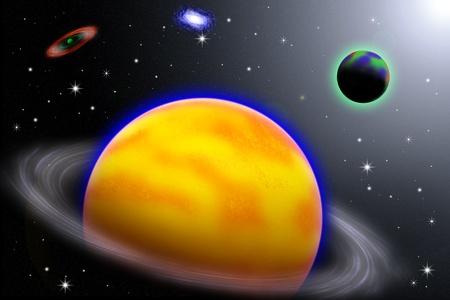 Illustration of  Galaxy,stars on space background,abstract background,dark space background illustration
