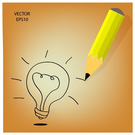 Drawing   sketching by color pencil, business concept, vector Stock Vector - 19124024
